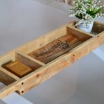 bathtub tray recycled wood rustic style bath rack made etsy