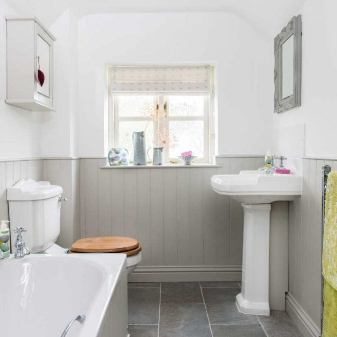 be inspired this light bright country bathroom ideal home