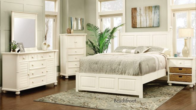 beachfront panel bedroom set cottage white