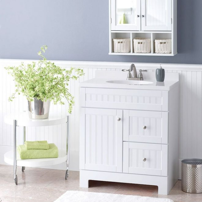 beadboard isnt just for walls this charming vanity with