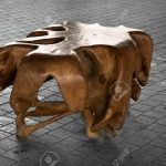 beautiful artistic example of driftwood furniture assembled