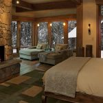 beautiful bedroom with view of snow my house of dreams in