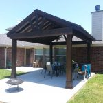 beautiful free standing stained wood gable patio cover outdoor wood