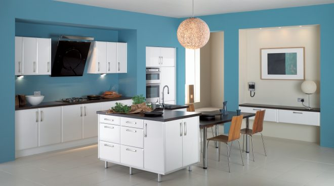 beautiful kitchen ideas with blue color together furniture white