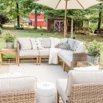 beautiful neutral summer patio decorating ideas and tips in