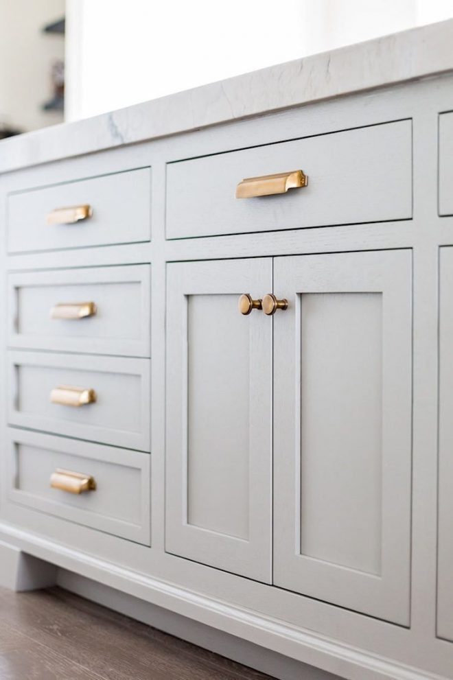beautiful white grey brass trim kitchen dustjacket