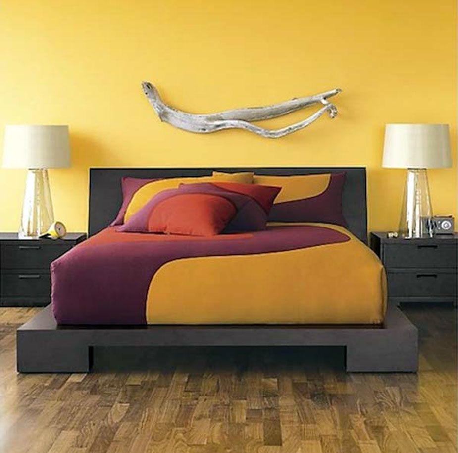 bedroom decorating ideas purple and yellow for the home