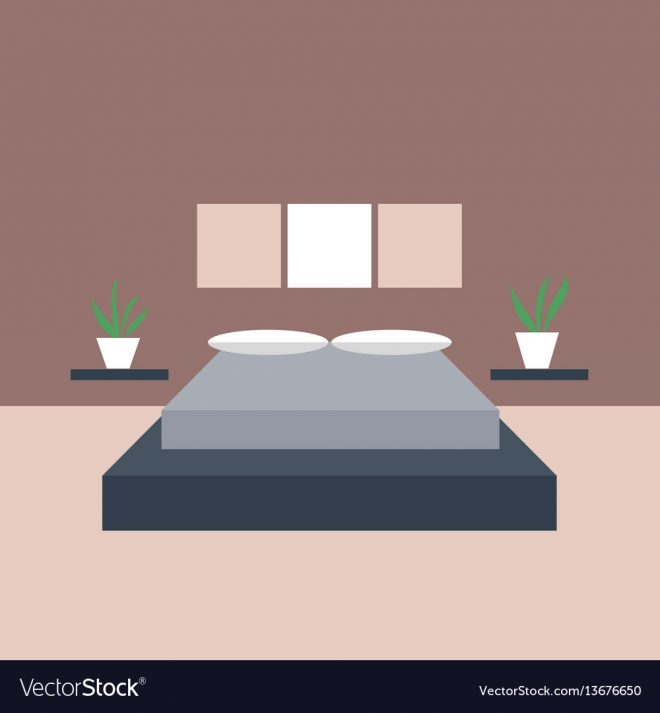 bedroom interior objects for graphic design