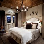 bedroom iron chandelier for rustic bedroom decorating ideas plus