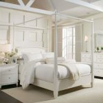 bedroom romantic sleep with white canopy bed queen