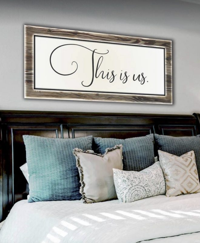 bedroom wall art this is us wood frame ready to hang