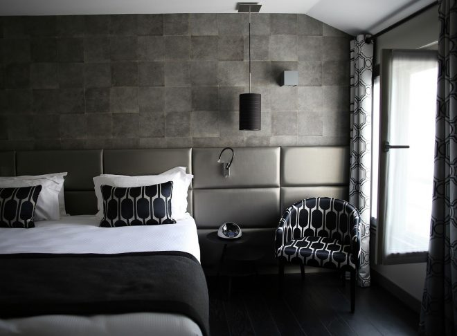 bedrooms exquisite stone wall bedroom design with grey