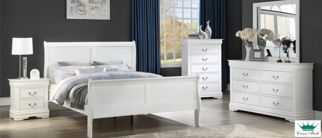 beds for less white louis philippe 6pc queen bedroom set