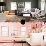 before after grace and julias pink living room makeover