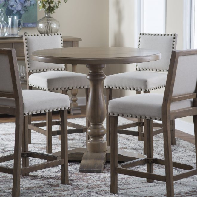 belham living kennedy round counter height 42 in gathering table