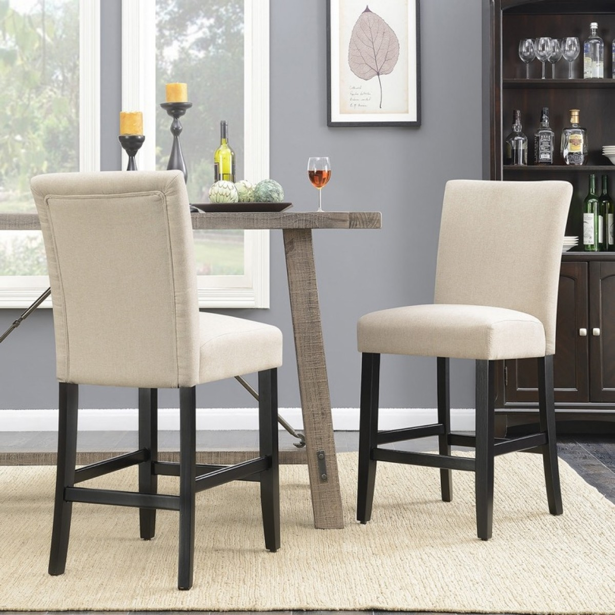 belleze 24 dining chairs fabric kitchen parsons urban style counter