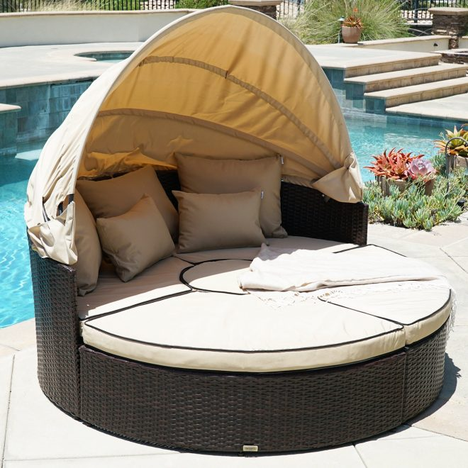 belleze 5 piece outdoor daybed set with cushions reviews wayfair