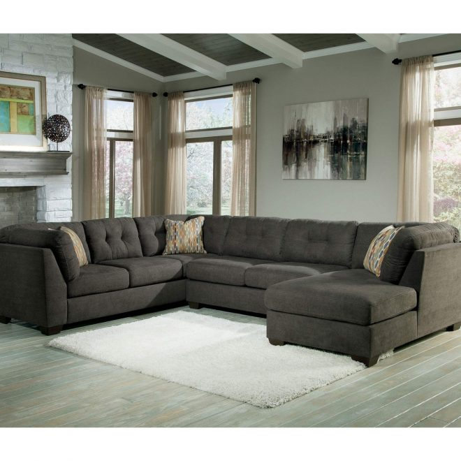 benchcraft delta city 3 pc sectional sofa with raf chaise sofas