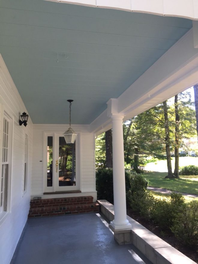 benjamin moore birds egg ceiling i love how it turned out