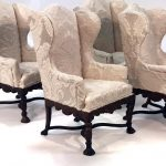 bespaq upholstered wingback chairs dollhouse miniatures