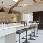 bespoke kitchen for cotswolds barn conversion contemporary
