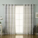 best home fashion 84 in l polyester nordic geometric tribal curtains in grey 2 pack