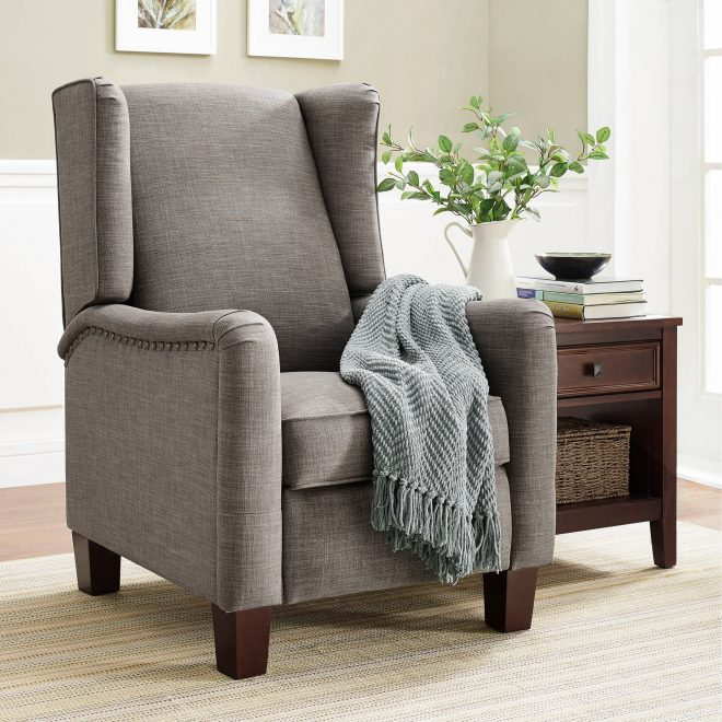 better homes and gardens grayson wingback pushback recliner walmart