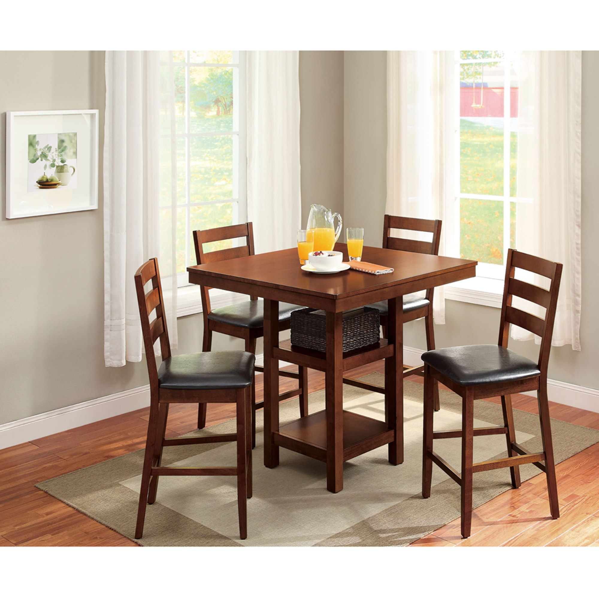 better homes gardens dalton park 5 piece counter height dining set walmart