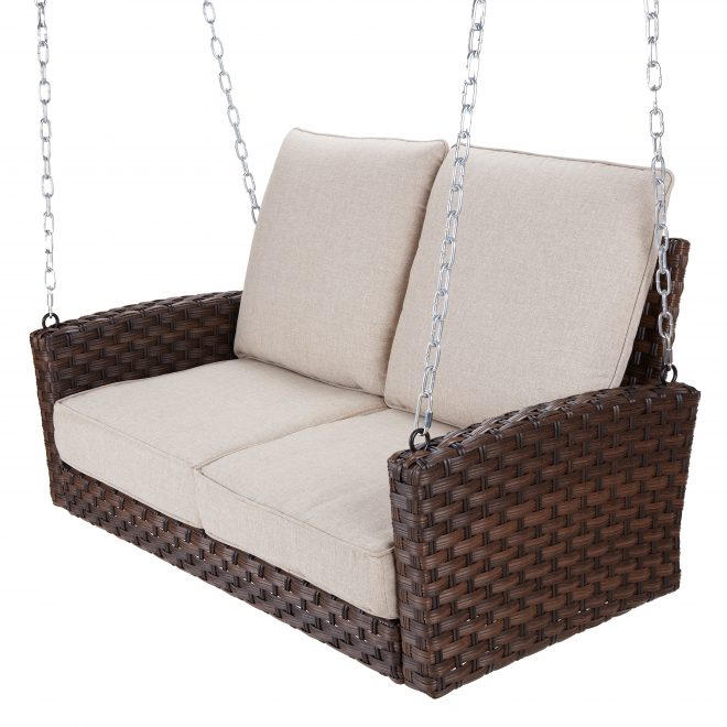 better homes gardens hensley outdoor wicker porch swing