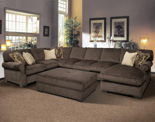 big and comfy grand island large 7 seat sectional sofa with right