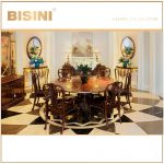 bisini european style antique victorian design round dining table with chair home dining room furniture bf08 ys003 view solid wood dining set