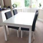 bjursta ikea white extendable dining table and 4 henriksdal ikea dark grey chairs in failsworth manchester gumtree
