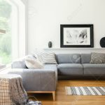 black and white textiles and decorations in a classic scandinavian