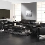 black sofa lr scheme 7 shades of gray white accents
