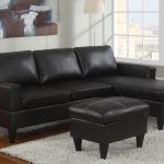 black vegan leather sectional sofa ottoman set furniture bureau