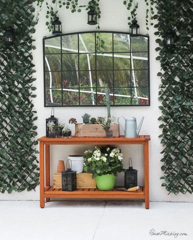 blank patio turned plant filled retreat house mix decor