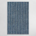 blue and ivory stripe parker indoor outdoor patio rug