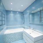 blue bathroom tiles style small white economy with wall above bath