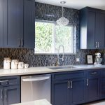 blue small kitchen photos hgtv charming with white cabinetry