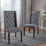 blythe dark gray dining chairs set of 2
