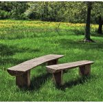 bois rustic country large outdoor bench kinsey garden decor