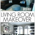 bold and bright living room makeover before after drapes