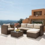 borealis trey 6 piece resin wicker furniture set