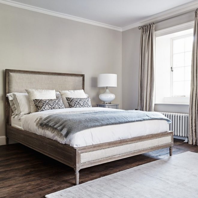 boston bed king size natural linen househome in 2019