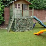 boys outdoor army playhouse in 2019 backyard fort play
