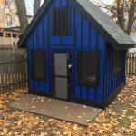 boys outdoor diy police station clubhouse kids in 2019