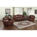 brandon distressed whiskey top grain italian leather sofa and two chairs 40 x 95 x 36