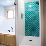 brilliant bathroom tiles moroccan blue fish scale tile and