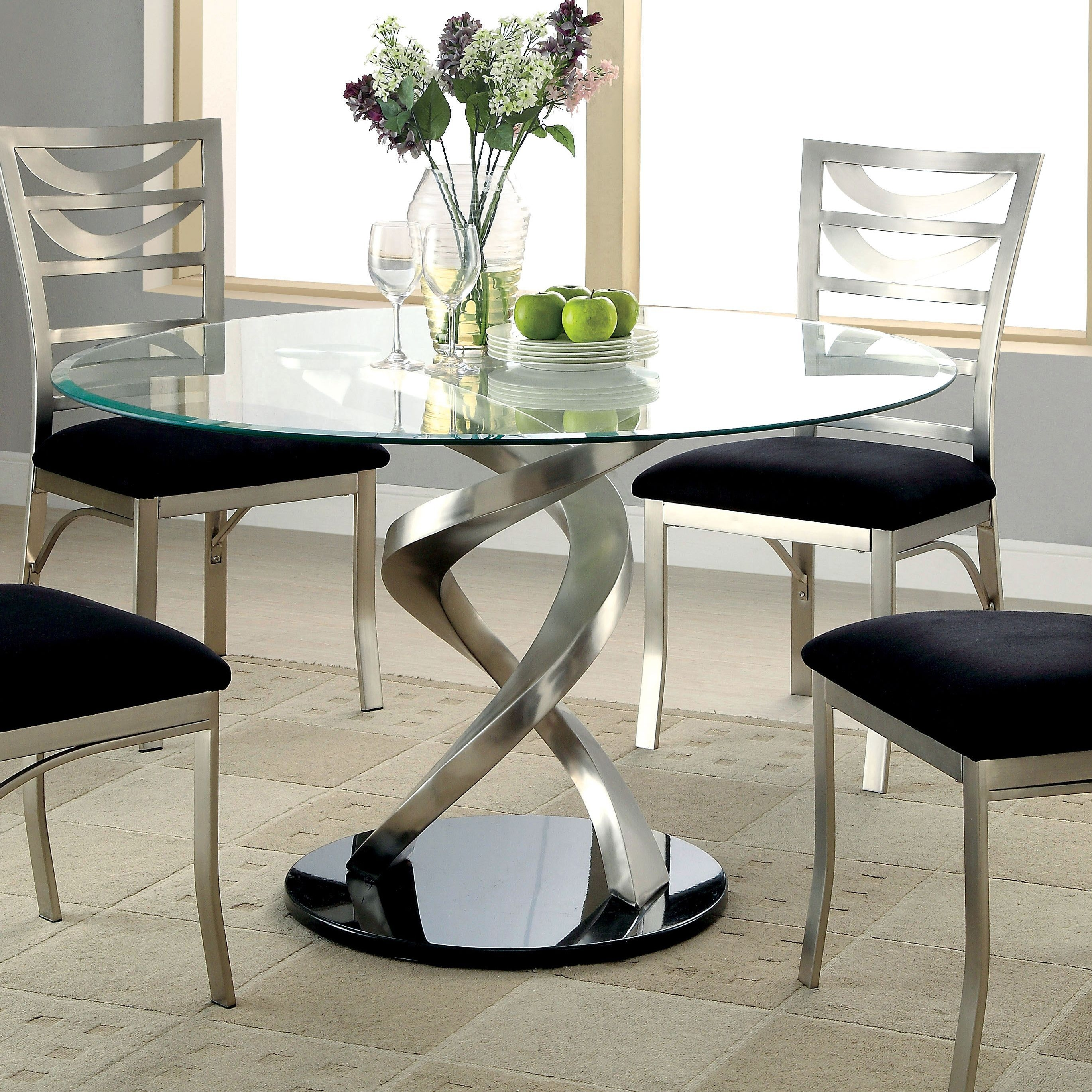bring modern sculpture designs to the dining room with this elegant