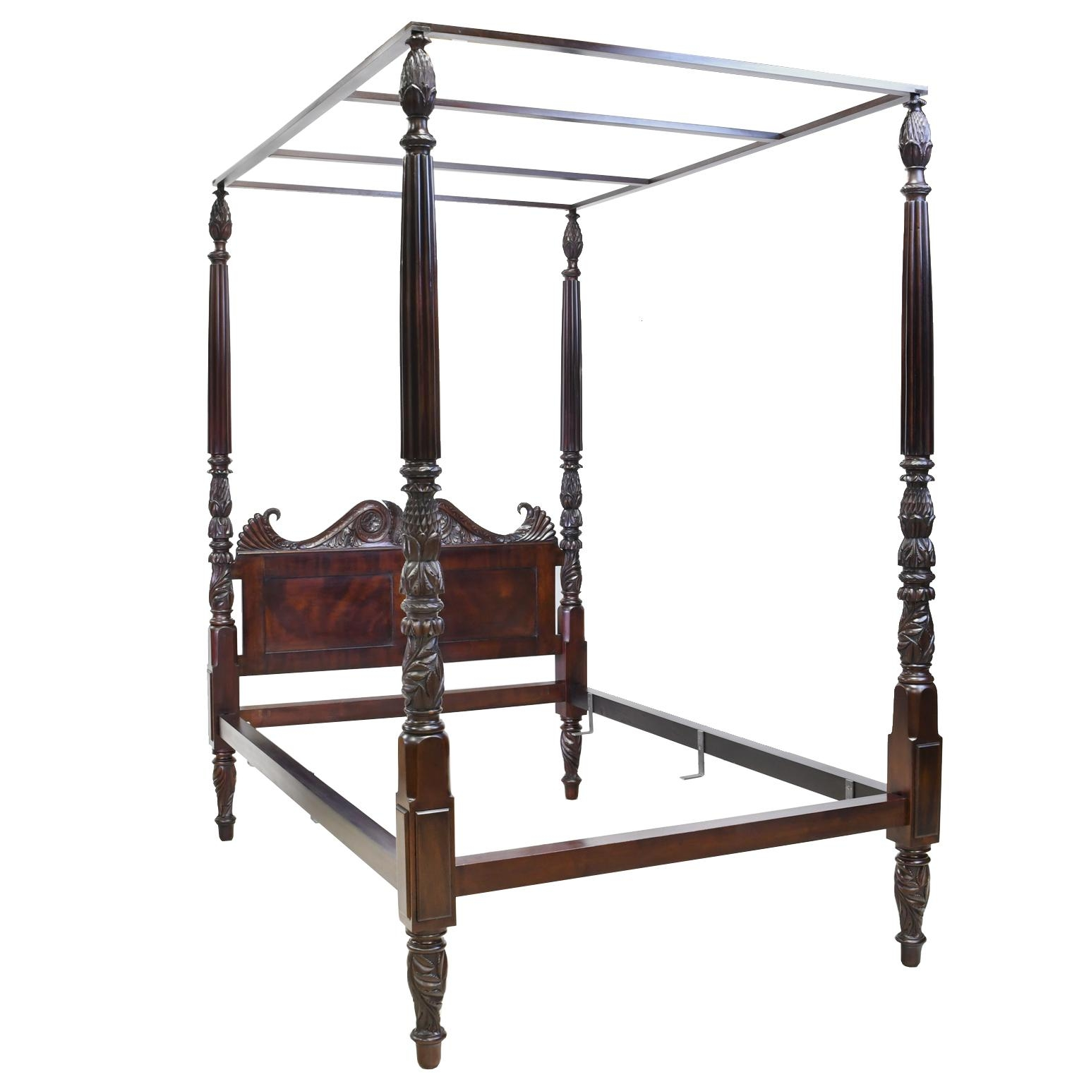 british colonial four poster queen size bed in cuban mahogany circa 1820